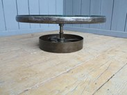Image 1 - Large Vintage Industrial Glass and Cast Iron Coffee Table