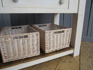 Image 7 - Antique Butchers Block With Baskets