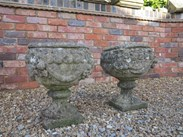 Image 1 - Pair of Stone Vintage Garden Planters