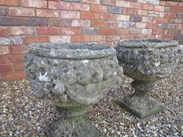 Image 5 - Pair of Stone Vintage Garden Planters