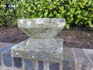 An excellent Hand Carved Stone Garden Birdbath