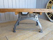Image 2 - Reclaimed Pine Table with Antique Cast Iron Base