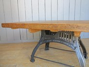 Image 7 - Reclaimed Pine Table with Antique Cast Iron Base