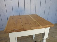 Image 6 - Reclaimed Plank Top Farmhouse Table With Painted Base