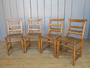 Image 6 - Antique Church Chairs with Lovely Back Rail Detail