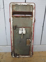 Showing the back of the Royal Mail Post Box Front - For Restoration