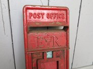 Image 3 - Original Red Post Office ER Post Box Front