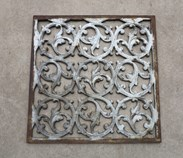 Image 1 - Square Victorian Cast Iron Floor Grille