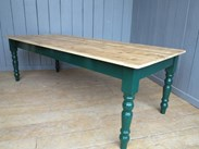 Image 1 - Reclaimed Floorboard Top Farmhouse Table