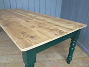 Image 4 - Reclaimed Floorboard Top Farmhouse Table