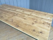 Image 5 - Reclaimed Floorboard Top Farmhouse Table