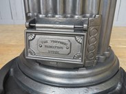 Side view of the antique reclaimed tortoise stove