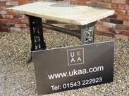 Image 5 - Reclaimed Cast Iron Garden Antique Table With Stone Top