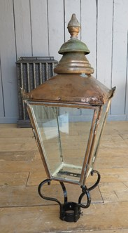 UKAA Buy & Sell Antique Cast Iron Lamp Post & Copper Lantern Sets