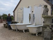 Showing all three Cast Iron Canopy Bath's
