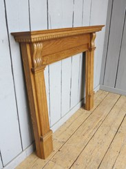 Image 1 - Corbel Waxed Solid Oak Fireplace Surround