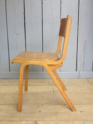 Image 6 - Vintage Reclaimed Stacking Chairs With Book Holder
