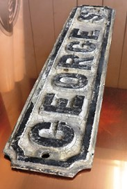 UKAA Buy and Sell Original Cast Iron 'GEORGE ST' Street Sign