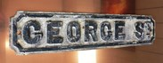 Image 5 - Original Cast Iron 'GEORGE ST' Street Sign