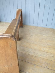 Image 5 - Antique Solid Oak Church Pew - 14 Available