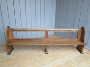 Image 6 - Antique Solid Oak Church Pew - 14 Available