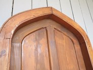 Image 6 - Reclaimed Antique Pitch Pine Gothic Arched Door & Frame