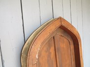 Image 7 - Reclaimed Antique Pitch Pine Gothic Arched Door & Frame