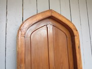 Image 1 - Reclaimed Pitch Pine Antique Gothic Arched Door & Frame