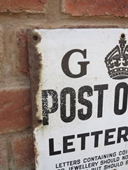 UKAA sell Original Royal Mail George 5th Enamel Post Office Sign