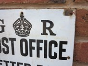Image 3 - Original Royal Mail George 5th Enamel Post Office Letter Box Sign