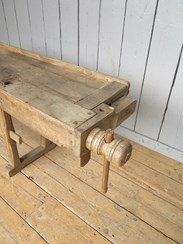 Image 2 - Reclaimed Antique Workbench suitable for a Kitchen Side Table