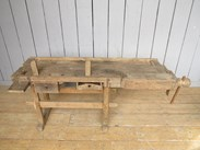 Image 3 - Reclaimed Antique Workbench suitable for a Kitchen Side Table