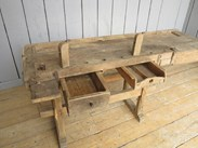 Image 4 - Reclaimed Antique Workbench suitable for a Kitchen Side Table