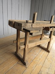 Image 5 - Reclaimed Antique Workbench suitable for a Kitchen Side Table