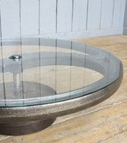 Image 4 - Glass & Cast Iron Vintage Industrial Coffee Table