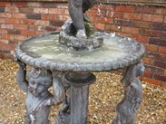 Image 2 - Antique Lead Water Fountain With Cherubs & Boy With Shell