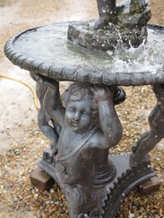 Image 6 - Antique Lead Water Fountain With Cherubs & Boy With Shell