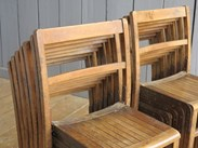 Image 3 - Vintage Wooden Stacking Chairs