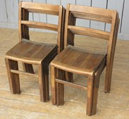 Image 2 - Vintage Wooden Reclaimed Stacking Chairs