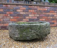 Image 6 - Antique Round Stone Garden Trough