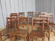 Image 4 - Antique Kitchen / Dining Room Church Chairs