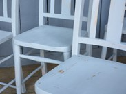 Image 3 - Set of 6 Hand Painted Distressed Kitchen Church Chairs