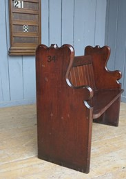 Reclaimed Church Pews in Oak or Pitch Pine are available to buy at UKAA