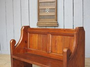 Image 4 - Antique Pitch Pine Church Pew