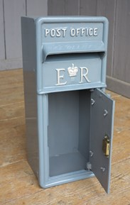 This is an Original British Cast Iron Post Box - Painted In Your Choice of Colour