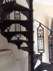 UKAA deliver Cast Iron Spiral Staircases throughout the UK and Overseas