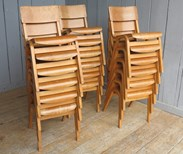 Reclaimed stacking chairs