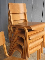 Image 2 - Vintage Reclaimed Stacking Chairs