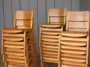 Image 4 - Vintage Reclaimed Stacking Chairs