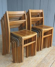 Showing all 15 vintage stacking chairs
